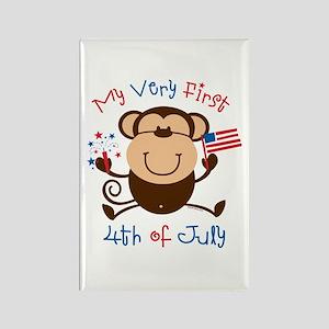 My 1st 4th Boy Monkey Rectangle Magnet
