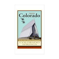 Travel Colorado Rectangle Sticker 10 pk)