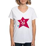 1 STAR EATING RED Women's V-Neck T-Shirt