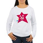 1 STAR EATING RED Women's Long Sleeve T-Shirt