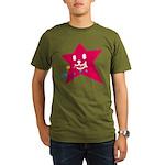 1 STAR EATING RED Organic Men's T-Shirt (dark)