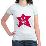 1 STAR EATING RED Jr. Ringer T-Shirt