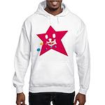 1 STAR EATING RED Hooded Sweatshirt