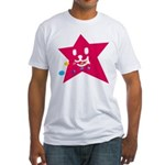 1 STAR EATING RED Fitted T-Shirt