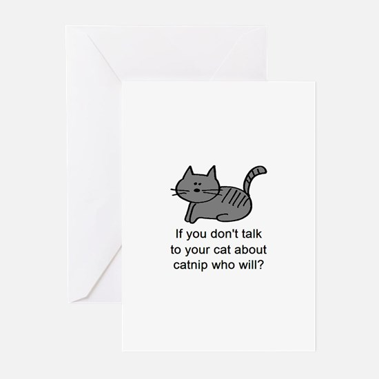 Talk to your cat Greeting Cards (Pk of 20)
