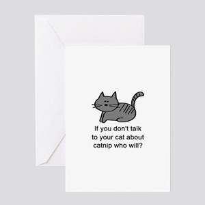 Talk to your cat Greeting Card