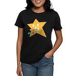 1 STAR EATING ORANGE Women's Dark T-Shirt
