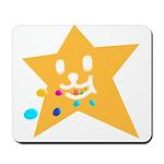 1 STAR EATING ORANGE Mousepad