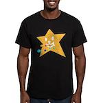 1 STAR EATING ORANGE Men's Fitted T-Shirt (dark)