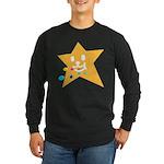 1 STAR EATING ORANGE Long Sleeve Dark T-Shirt