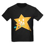 1 STAR EATING ORANGE Kids Dark T-Shirt