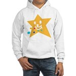 1 STAR EATING ORANGE Hooded Sweatshirt