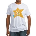 1 STAR EATING ORANGE Fitted T-Shirt