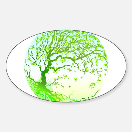 Spring Oval Decal