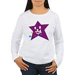 1 STAR EATING PURPLE Women's Long Sleeve T-Shirt