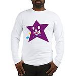 1 STAR EATING PURPLE Long Sleeve T-Shirt