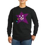 1 STAR EATING PURPLE Long Sleeve Dark T-Shirt