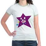 1 STAR EATING PURPLE Jr. Ringer T-Shirt