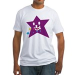 1 STAR EATING PURPLE Fitted T-Shirt