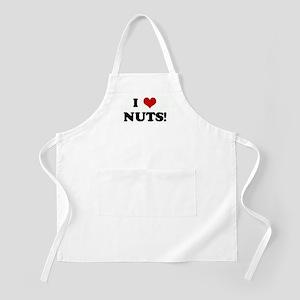I Love NUTS! BBQ Apron