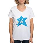1 STAR EATING BLUE Women's V-Neck T-Shirt
