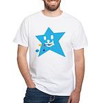 1 STAR EATING BLUE White T-Shirt