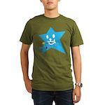 1 STAR EATING BLUE Organic Men's T-Shirt (dark)