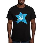 1 STAR EATING BLUE Men's Fitted T-Shirt (dark)