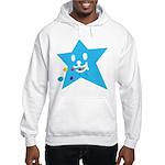 1 STAR EATING BLUE Hooded Sweatshirt