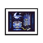 blues moon Framed Panel Print