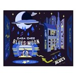 blues moon Small Poster