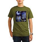 blues moon Organic Men's T-Shirt (dark)