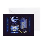 blues moon Greeting Cards (Pk of 10)