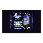 blues moon Sticker (Rectangle 50 pk)