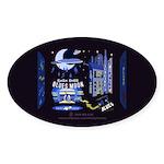 blues moon Sticker (Oval 10 pk)