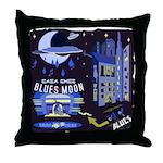 blues moon Throw Pillow