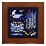 blues moon Framed Tile
