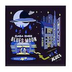 blues moon Tile Coaster