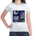 blues moon Jr. Ringer T-Shirt