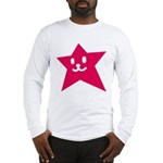 1 STAR SMILEY RED Long Sleeve T-Shirt