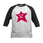 1 STAR SMILEY RED Kids Baseball Jersey