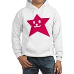 1 STAR SMILEY RED Hooded Sweatshirt