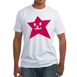 1 STAR SMILEY RED Fitted T-Shirt