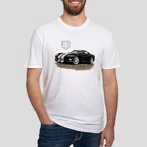 Viper Black/White Car Fitted T-Shirt