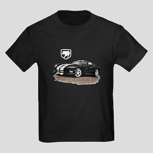 Viper Black/White Car Kids Dark T-Shirt