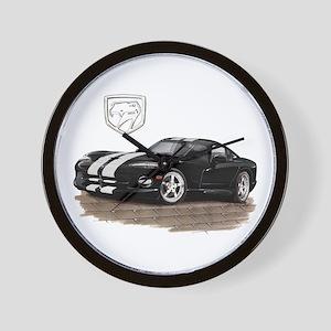 Viper Black/White Car Wall Clock