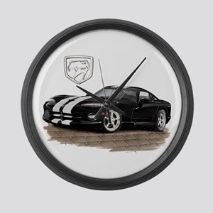 Viper Black/White Car Large Wall Clock