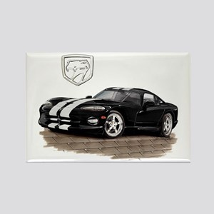 Viper Black/White Car Rectangle Magnet