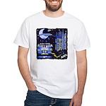 blues moon White T-Shirt