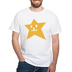 1 STAR SMILEY ORANGE White T-Shirt